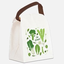 gogreenpattern2 Canvas Lunch Bag