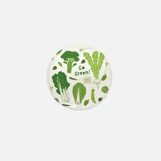 gogreenpattern2 Mini Button