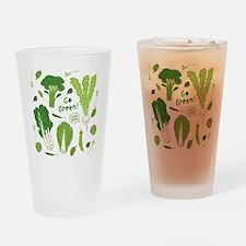 gogreenpattern2 Drinking Glass