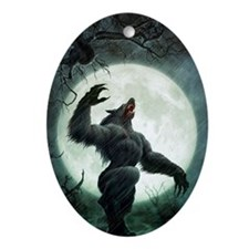 Howl-Postcard Oval Ornament