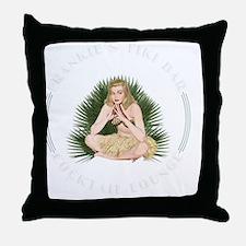 Frankies Tikki 1 blk Throw Pillow