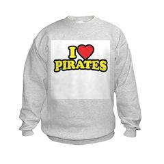 I Love Pirates Sweatshirt