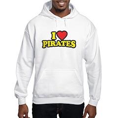 I Love Pirates Hoodie