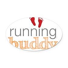 running buddy babyR Oval Car Magnet