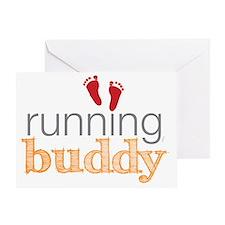 running buddy babyR Greeting Card