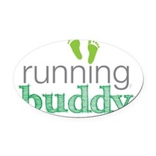 running buddy babyG Oval Car Magnet