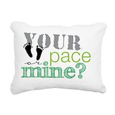 your pace feet Rectangular Canvas Pillow