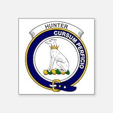 "Hunter Clan Badge Square Sticker 3"" x 3"""