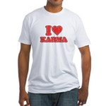 I Love Karma Fitted T-Shirt
