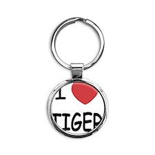 TIGER Round Keychain