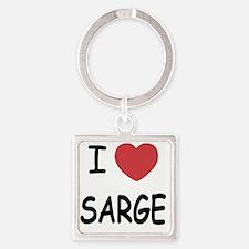 SARGE Square Keychain