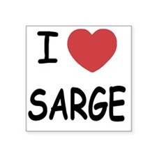 "SARGE Square Sticker 3"" x 3"""