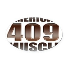 american muscle 409 Oval Car Magnet