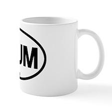 PlumIslandOvalSticker Mug