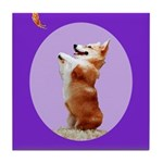 Begging Corgi Tile Coaster