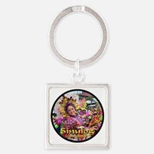 Sinulog_dancer02_blackcircle_butto Square Keychain