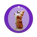 Begging Corgi Ornament (Round)