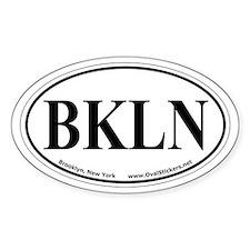 Brooklyn, New York Decal Oval Car Decal