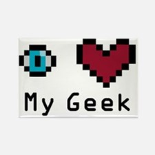 Eye Heart My Geek Rectangle Magnet