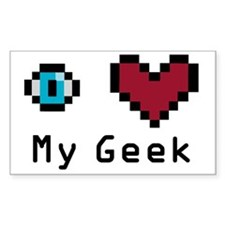 Eye Heart My Geek Decal