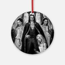 dracula and his ladies square Round Ornament