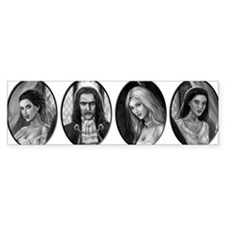 dracula and brides ovals Bumper Sticker