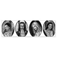 dracula and brides ovals Bumper Stickers