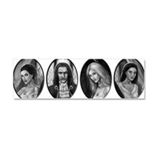 dracula and brides ovals Car Magnet 10 x 3