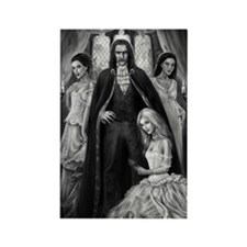 dracula and his ladies Rectangle Magnet
