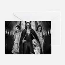 dracula and his ladies wide Greeting Card