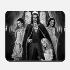 dracula and his ladies wide Mousepad