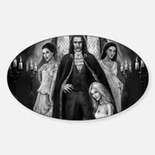 dracula and his ladies wide Decal