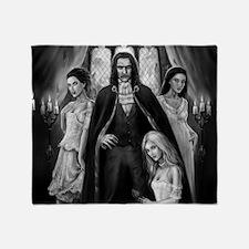 dracula and his ladies wide Throw Blanket