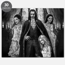 dracula and his ladies wide Puzzle
