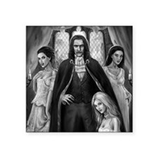 "dracula and ladies for mous Square Sticker 3"" x 3"""