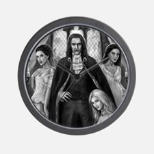 dracula and ladies for mousemat Wall Clock
