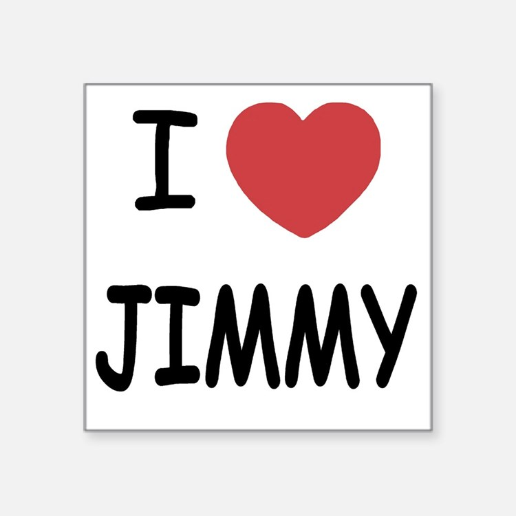 "JIMMY Square Sticker 3"" x 3"""
