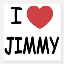 "JIMMY Square Car Magnet 3"" x 3"""