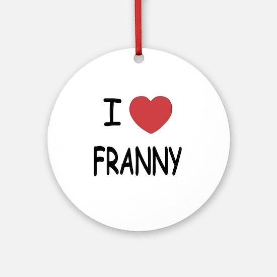 FRANNY Round Ornament