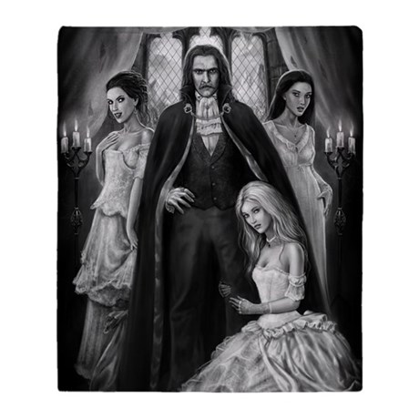 dracula and his ladies for journal Throw Blanket
