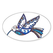 Hummingbird Slate and Blue Decal