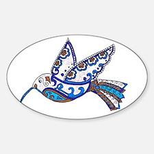 Hummingbird Slate and Blue Decal
