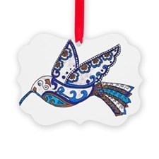 Hummingbird Slate and Blue Ornament