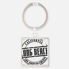 Long Beach Title W Square Keychain