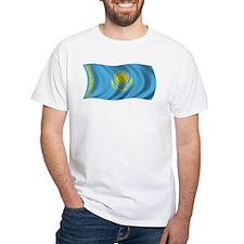 Wavy Kazakhstan Flag Shirt