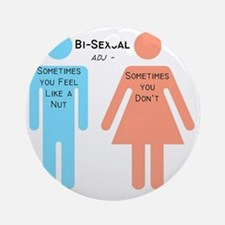 Bi-sexual Round Ornament