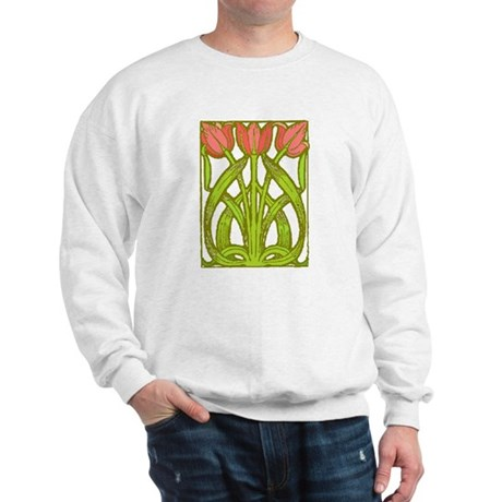 Art Nouveau Tulips -- Sweatshirt