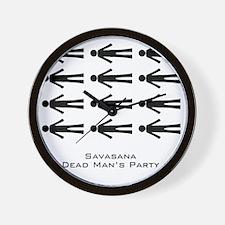 Savasana Dead Mans Party Wall Clock