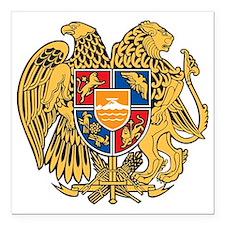 "Armenia Coat of Arms Square Car Magnet 3"" x 3"""