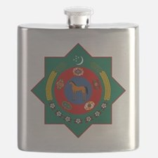 Turkmenistan Coat of Arms Flask